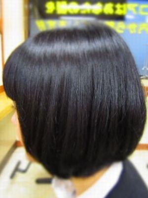 ショートボブスタイル 黒髪
