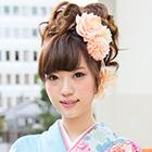 卒業式女子袴着付け+アップスタイル