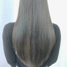 【まとまらないうねり髪に★】ツヤ髪縮毛矯正+カット+たんぱくケア