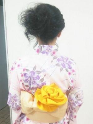 ゆかた着付け+ヘアセット¥7000