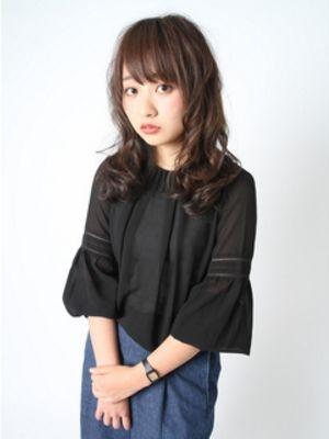 秋髪色ヌーディーパーマ