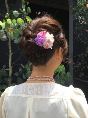結婚式用ヘアセット