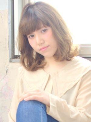 ■MUSEUM■ふんわりカールの柔らかミディアムスタイル☆