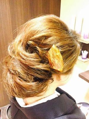 京都着物アレンジ 下めカール