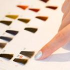 グラデーション特殊ビビットカラー+デザインカット