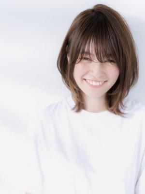 【Euphoria】☆セミウェットが旬☆小顔ひし形ミディアム
