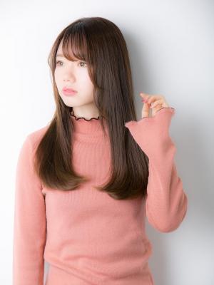 【Euphoria】透け感ストレート×シースルーバング
