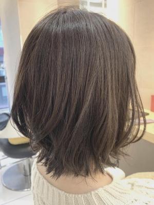 大人可愛い☆外ハネ小顔ミディ☆20代30代40代ウルフ