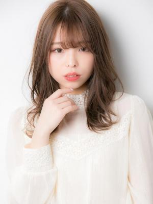 毛先パーマ☆小顔シースルーセミディ☆20代30代40代