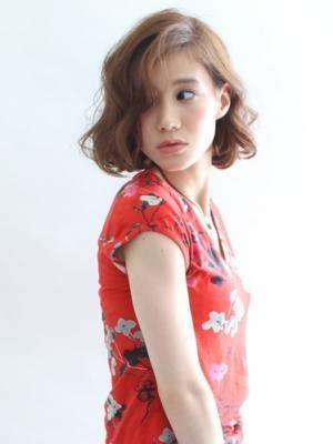 ☆似合う髪型30代40代大人のゆるウェーブボブ☆