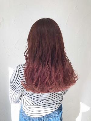 ピンクグラデーションカラー