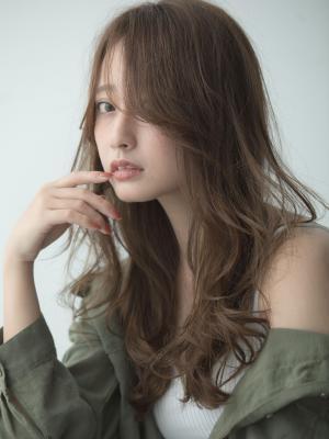 【Euphoria銀座本店】シースルーバングのこなれロング☆