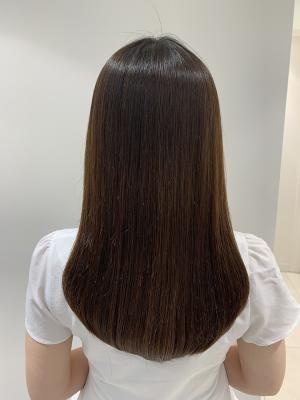 ナチュラルストレート☆艶髪☆髪質改善