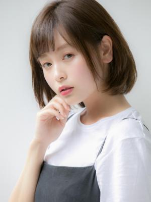 【Euphoria銀座本店】斜めバングツヤボブ 山崎翼