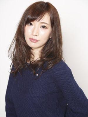【オトナ女子】モードネイビー×セミロング☆