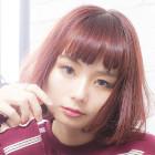 【つや髪潤いカラー♪】カット+カラー+縮毛矯正