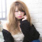 外国人風カラー+シールエクステ(40本,カット込)