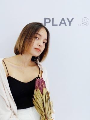 PLAY .S☆外国人風切りっぱなしボブ