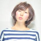 【潤い艶カール】カット+コラーゲン入り炭酸パーマ+炭酸泉