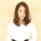 【潤い・ツヤ】前髪カット+潤ストレート+ツヤ電子Tr