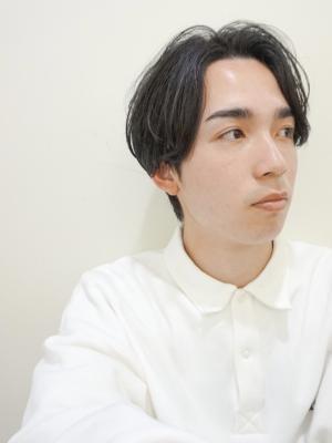 メンズ×スリークショート×黒髪