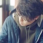 ◆デキる男前カット+メンズスパ(20分)+ヘアクレンジング+眉カット+カラー+パーマ+ヘアワックス