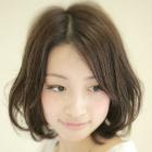 【硬い髪が柔らかな質感に】カット+キュアパーマ