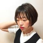 前髪カット+カラ-