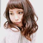 【ヘアループ】前髪ほんのりフンワリ☆お試し100本☆(全体カット込み)