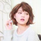 【艶髪カラー】 リタッチカラー+カット+ハホニコトリートメント