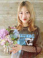 【lagoon阿部春菜】イルミナカラー☆エアリーミディ