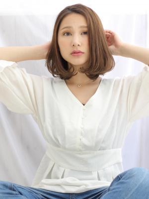 【阿部春菜】柔らか質感×フェミニン×ワンカールボブ