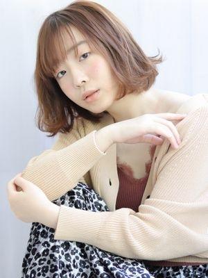 「lagoon磯野真由美」艶髪カラー×フレンチボブパーマ