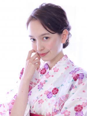 浴衣にピッタリ☆柔らかシニヨン