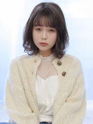 【valentine中居】大人かわいいミディアム*くすみベー