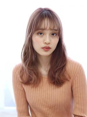 【valentine中居】ピンクベージュ大人ゆるふわカール