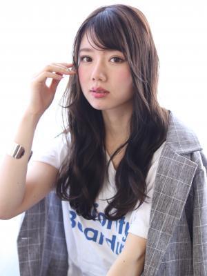 kamei☆暗髪斜めバング×デジタルパーマ