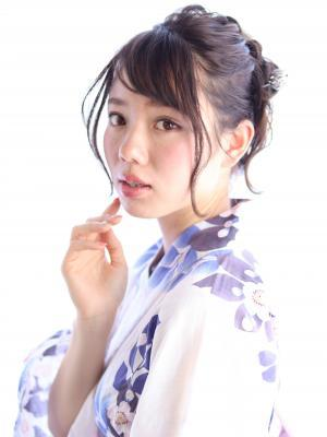 kamei☆愛され浴衣お団子ヘアアレンジ