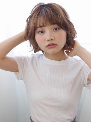無造作パーマ風ボブ/marche田嶋