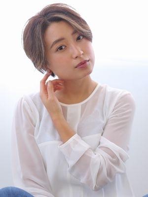 【マルシェ染谷】 大人気☆毛先パーマ+ハンサムショート