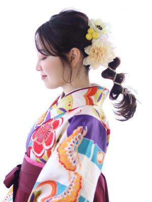 【marche とや】卒業式 ヘアアレンジ 袴ヘア