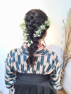 【hair design A-BOO】編み込みワンテール