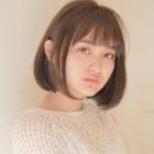 【ストレートメニュー】似合わせカット+やわらか前髪縮毛矯正+ケアTr