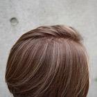 カット+3/4ハイライト(髪の表面と中間部分のみ)+カラー+Tr