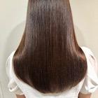 【サラサラ美髪】カット+ストレートパーマ+リタッチカラー+Tr