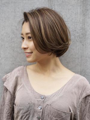 【haku/川口】ハイライトカラー×上品ボブ