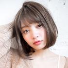 前髪縮毛矯正+全体カット+トリートメント(2STEP)