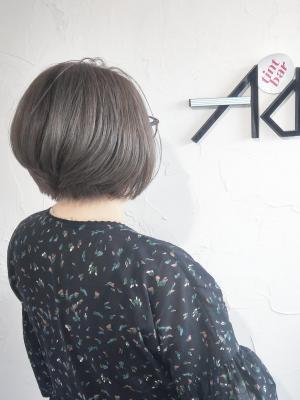 ミニボブ 白髪染めグレーカラー 【伊勢崎市 美容室】