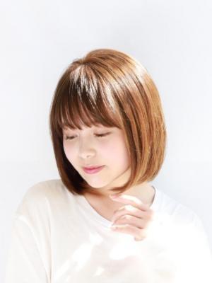 【oak 永井】小顔バングのシンプルボブ