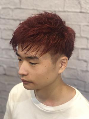 【赤髪】【派手髪】夏ショート